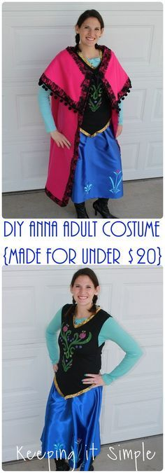 DIY Disney Frozen Anna Adult Costume- made for less than 20 dollars More