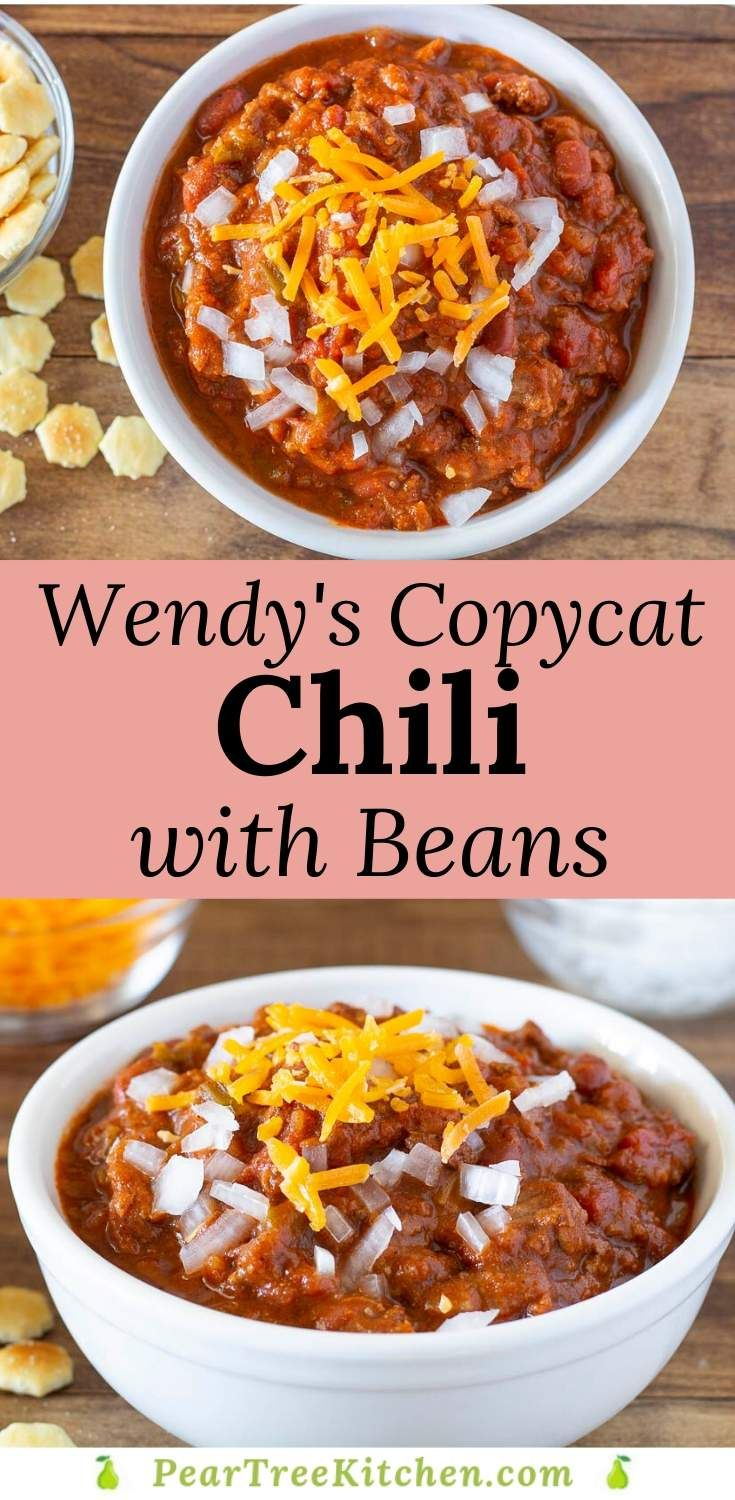 Copycat Wendy S Chili In 2020 Rotel Recipes Mince Recipes Recipes With Kidney Beans