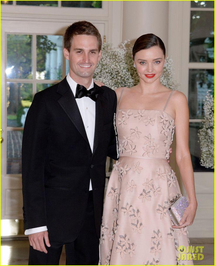 Miranda Kerr & Evan Spiegel Couple Up at State Dinner! Pinterest: KarinaCamerino