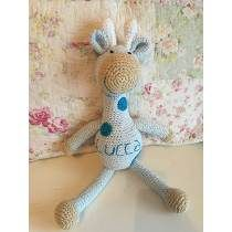 Jirafa Tejida Al Crochet