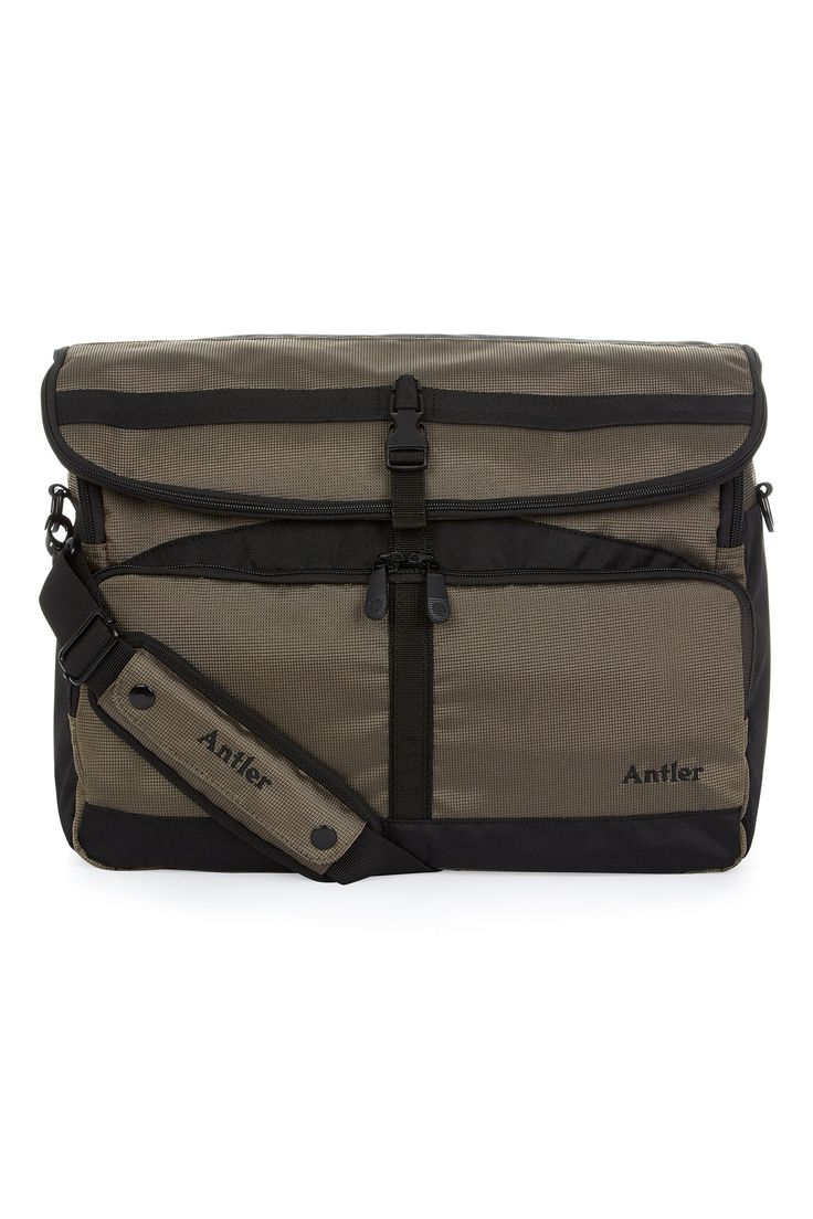 Antler Tundra khaki messenger bag, Khaki on sale in the UK along with best deals on many other designer bags and luggage