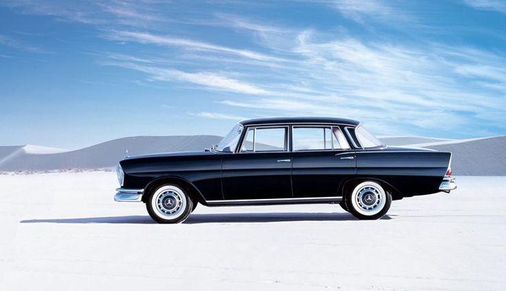 """1959 Mercedes-Benz W111  220Sb """"Fintail"""" at the Bonneville Salt Flats"""