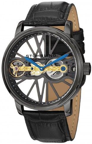 17 best images about men s skeleton watches stuhrling original 27 33f569 winchester bridge gunmetal mechanical skeleton watch for men