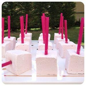 Pirulito de Marshmallow de Framboesa -só por ser interessante, pois parece chato de fazer