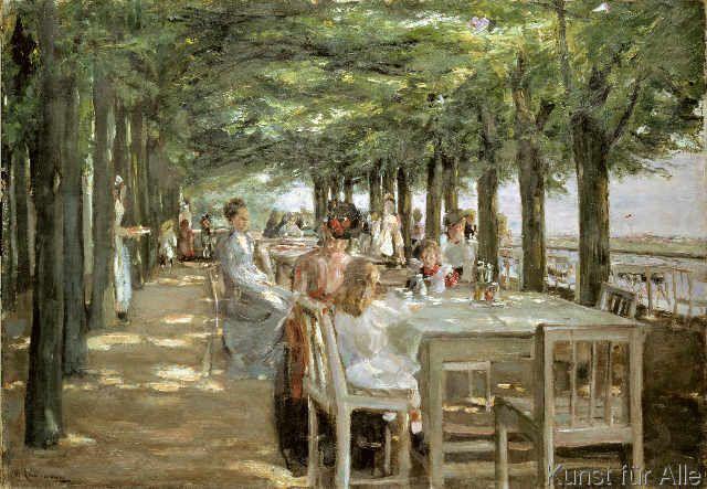 Max Liebermann - Terrasse im Restaurant Jacob in Nienstedten an der Elbe