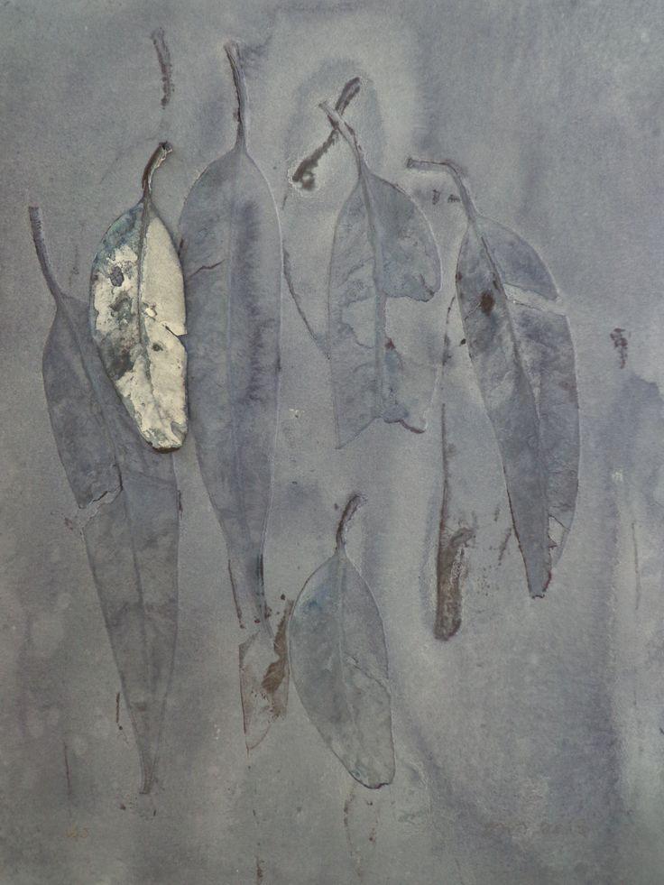 Leaves III, monoprint