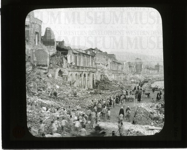 Water-front after the earthquake, Messina, Sicily   saskhistoryonline.ca