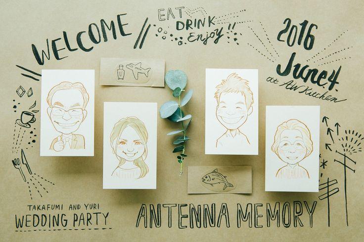 - CONCEPT「Antenna Memory」 お席まで案内してくれる エスコートアイテムは 全員のそっくりな似顔絵! . 言葉にせずとも心で感じながら 自分はこれかな?きっとこれだよ! そんな言葉が飛び交う . Antenna Memory 言葉にせずとも感じとれるを ゲストの皆さんも楽しむ時間に . Art direction by @asakoinakazu Photo by @ori_kuppo Hairmaked by @katsuko_hairmakekimono MC by @mc_atsushi…