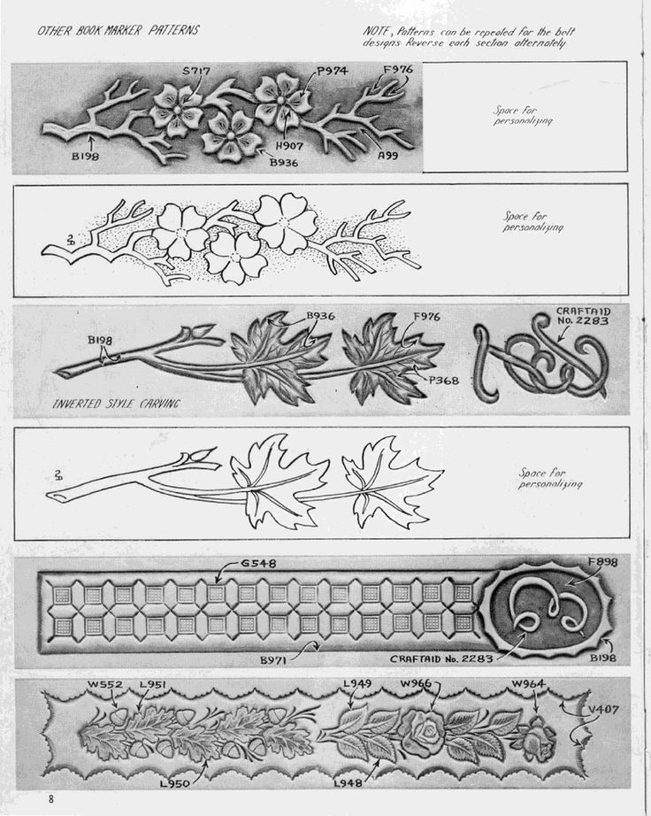 Best leather carving patterns images on pinterest