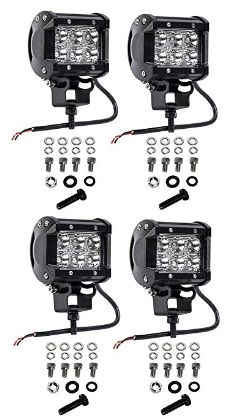 Cutequeen 4 X 18w 1800 Lumens Cree LED Spot Light for Off-road SUV Boat 4x4 Jeep Lamp Tractor Marine Off-road Lighting Rv Atv