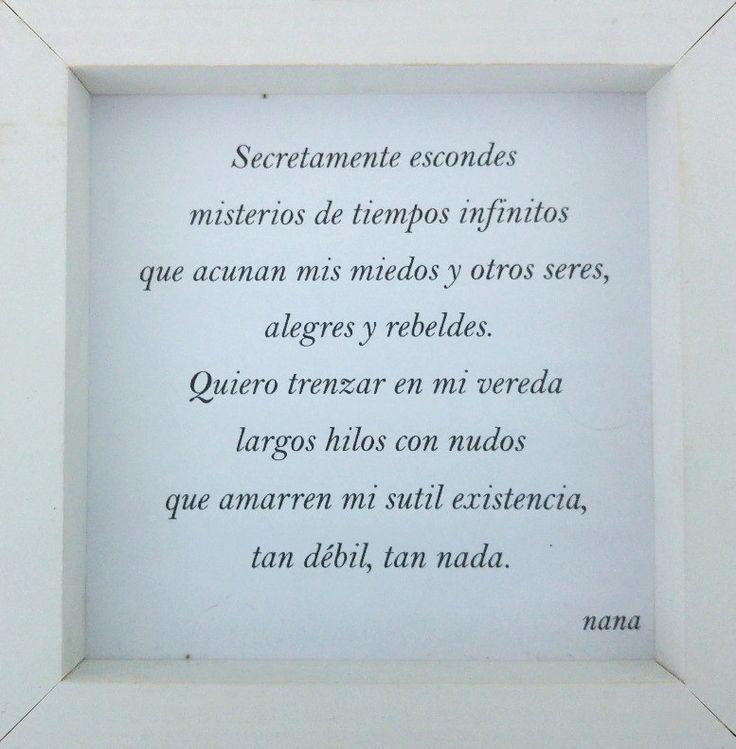 """Sutil existencia 2' "" ; Nana Brogi"
