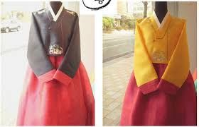 6) grey and pink hanbok