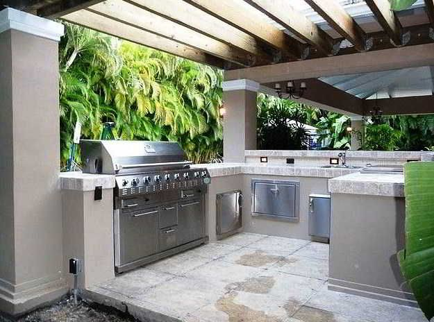 Contoh Desain Dapur Basah Semi Outdoor