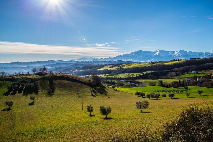 Good morning from Villa Gesso and the green Teramo hills in Abruzzo!