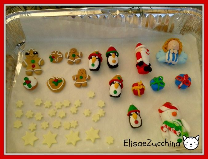 It's Christmas time. Fimo decorations by www.elisaezucchina.blogspot.it