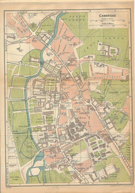 1930 Cambridge United Kingdom Great Britain Antique by Figure10