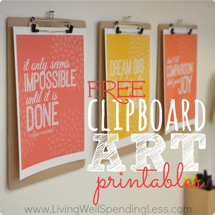 Free Printable Office Art ... love hanging them on clipboards in the office :)