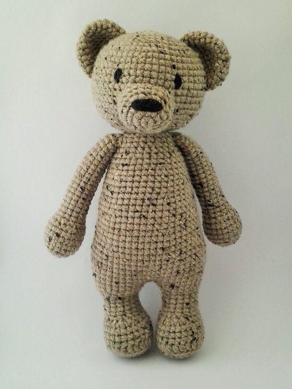 Handmade Crochet Brown Teddy Bear Amigurumi by ElaMakrelaCrochet