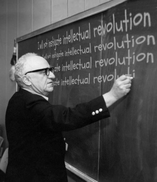 I will not instigate intellectual revolution (Murray Rothbard)