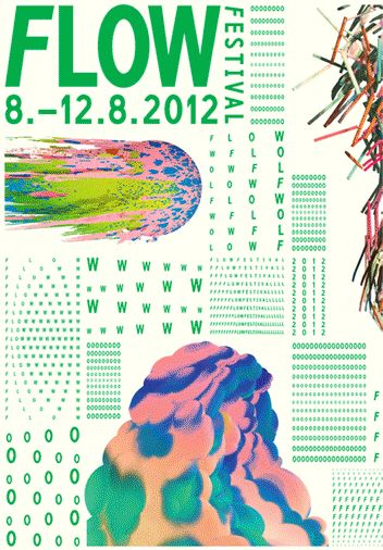 Flow art, music and culture fesltival visual identity is really trendy and easy to remember. Personal favorite. I could try to bring some elements from this to my project.