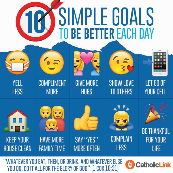 Catholic-Link's Library - Infographic: 10 simple daily goals