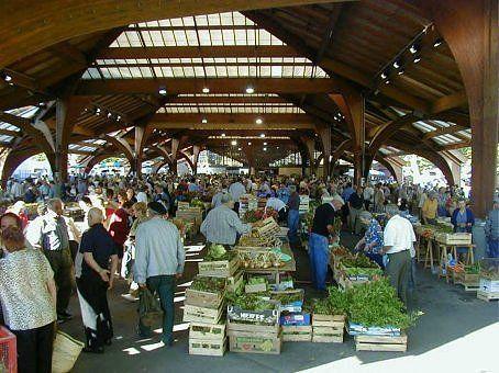 The Brive La Gaillarde Saturday morning market.