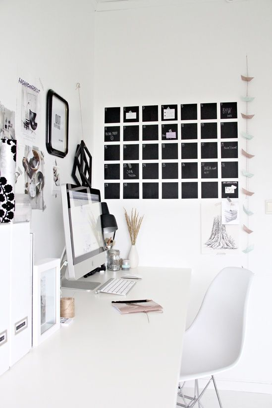 white on white home office nook writing corner
