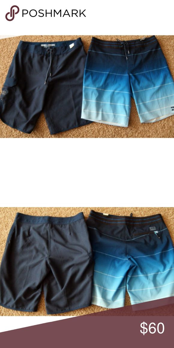 29b17e67b1 NWT Lot of 2 Billabond Board Shorts 32 Regular New Men's Billabong Board  Shorts - Lot of 2 1) Navy Blue