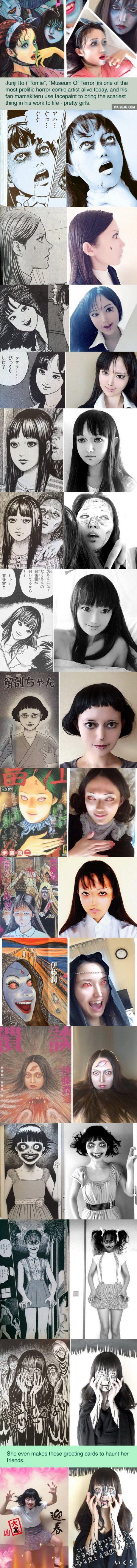Talented girl's Junji Ito cosplay will haunt your dreams (By Mamakiteru)