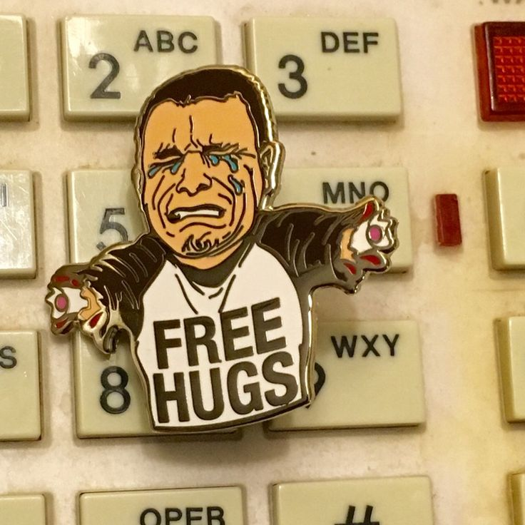 Image of Free Hugs Enamel Pin