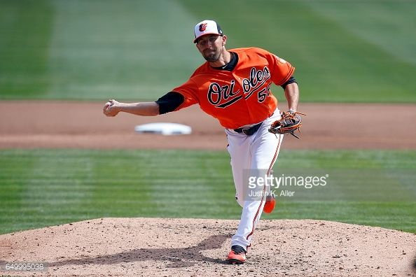 News Photo : Darren O'Day of the Baltimore Orioles in action...