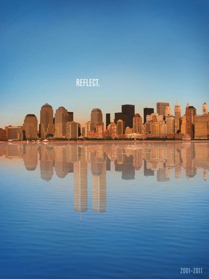 This ad was created for the 10 year anniversary of 9/11. It's a very strong image, but something that I felt was, from a advertising perspective, very appropriate & tasteful. Such a beautiful image, and on this milestone... - New York City Feelings