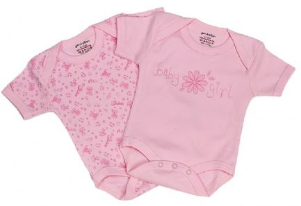 Premature baby vests. Beautiful vests in a pack of 2 with envelope neck. Each vest has a different design. Made from 100% cotton with popper fastenings and short sleeves. Supersoft cotton feel. Available in pink and blue. In sizes 3-5lbs, 5-8lbs, Newborn, 0-3 Months, 3-6 Months.