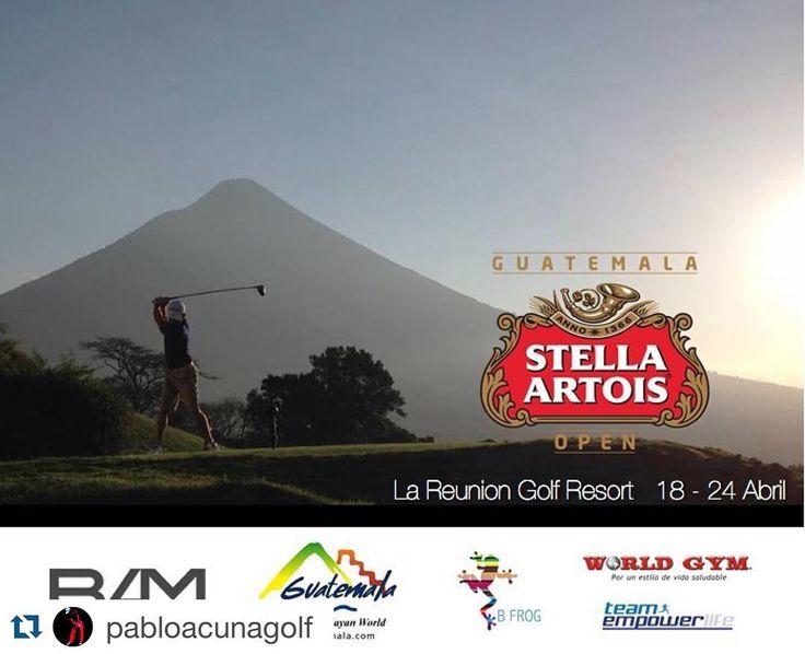 #Repost @pabloacunagolf  Hoy inicia una semana muy especial. La semana del torneo PGA en La Reunión. Será un honor competir en casa contra los mejores jugadores profesionales de Latinoamérica. Los invito a todos a que nos acompañen disfrutando de buen golf en un lugar espectacular y apoyando a los golfistas Guatemaltecos que estaremos compitiendo. Siempre muy agradecido con mis patrocinadores @bamguatemala @visitguatemala_ @bfrogclothing @worldgymguatemala  Vamos por una excelente semana y…