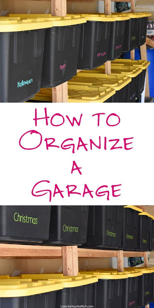 How to Organize a Garage   useful tips!