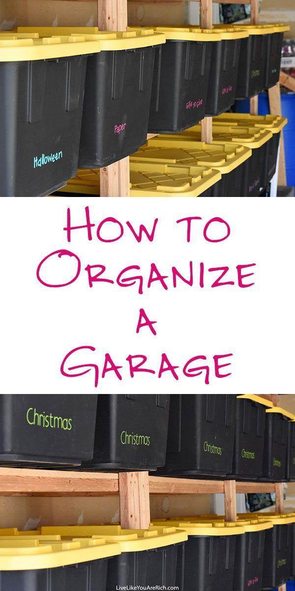 How to Organize a Garage   useful tips! Organization Tips | Cricut Label