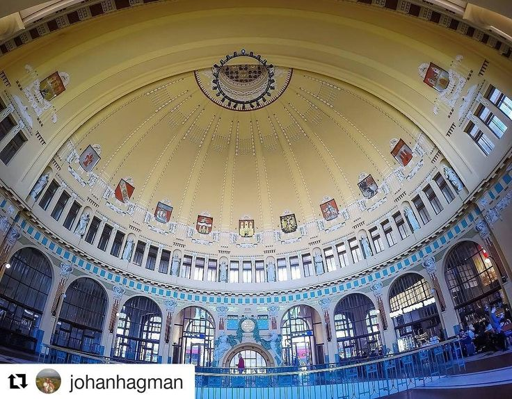 #Repost @johanhagman in Fantova kavárna  Even if your not catching a train make sure to pass by Prague Central Station (Praha Hlavní nádraží) the main hall is worth seeing! ---------------------------------------------------- #architecturephotography #exploringtheglobe #praguecity #architecture #travel #wanderlust #adventure #travelling #travelphotography #beautifuldestinations #LoveTheWorld #LiveTravelChannel #findtheworld #discoverglobe #TheGlobeWanderer #bestvacations…