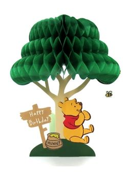 Disney Winnie the Pooh Honeycomb Pop Up Birthday Greeting Card