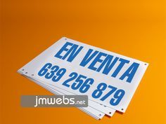 Carteles Personalizados en Venta para Inmobiliarias, Fincas, etc en Barcelona. Packs de promoción. Precios en www.jmwebs.com - Teléfono: 935160047