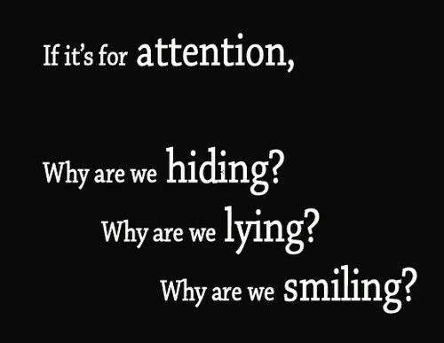 I Hate Attention Seekers Quotes: 59 Best Self Harm Quotes Images On Pinterest