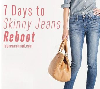 """Spring Break is right around the corner! Check out Lauren Conrad's """"7 Days to Skinny Jeans Re-Boot"""" to get the beach body you've always wanted."""