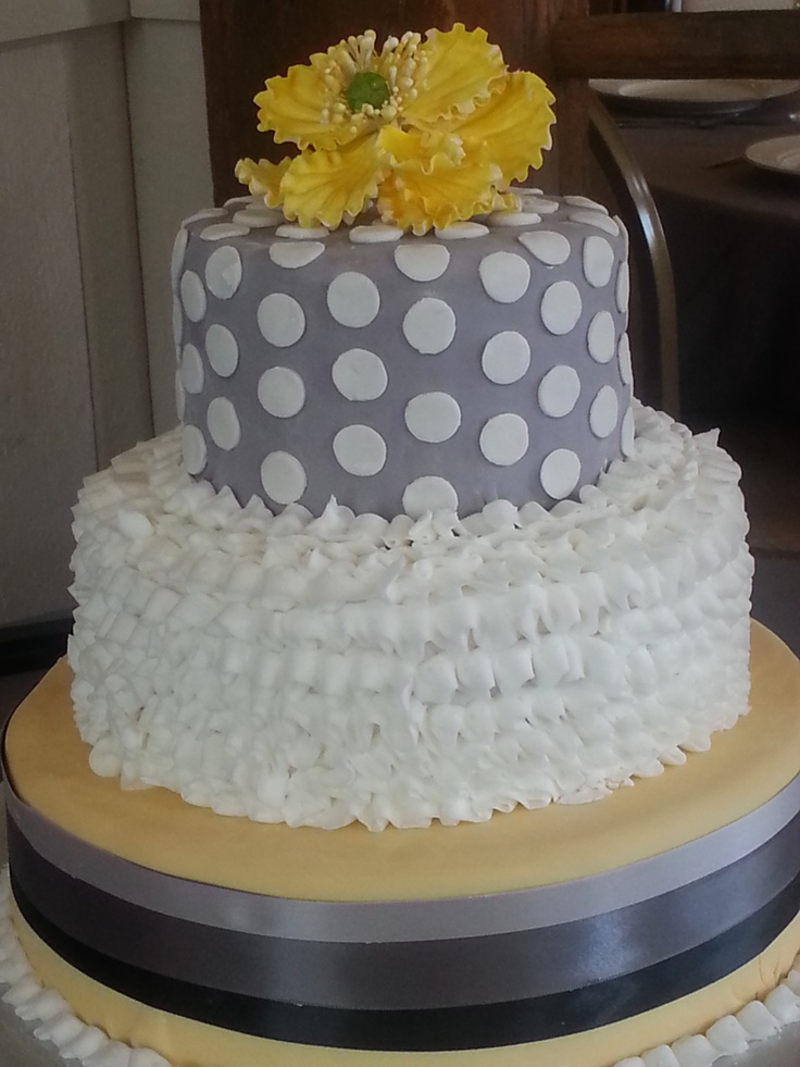 yellow and gray wedding cake cakes pinterest