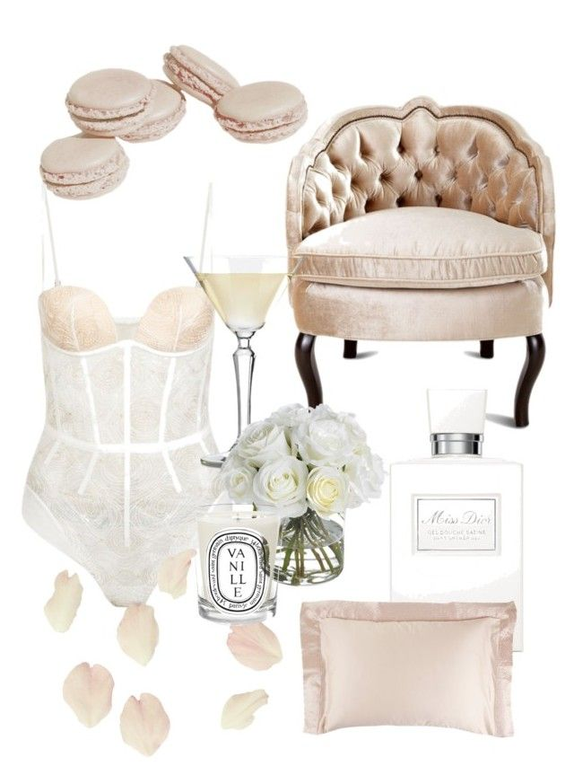 """self care sundays"" by fairybisous on Polyvore featuring La Perla, Haute House, Diane James, Diptyque and Christian Dior"