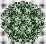 Cross Stitch Green Man - Bing Images