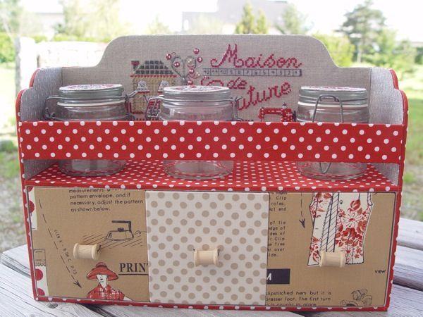 17 meilleures images propos de boites cartonnage sur for Boite a couture fille