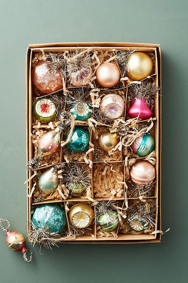 Slide View: 1: Vintage-Inspired Ornament Set