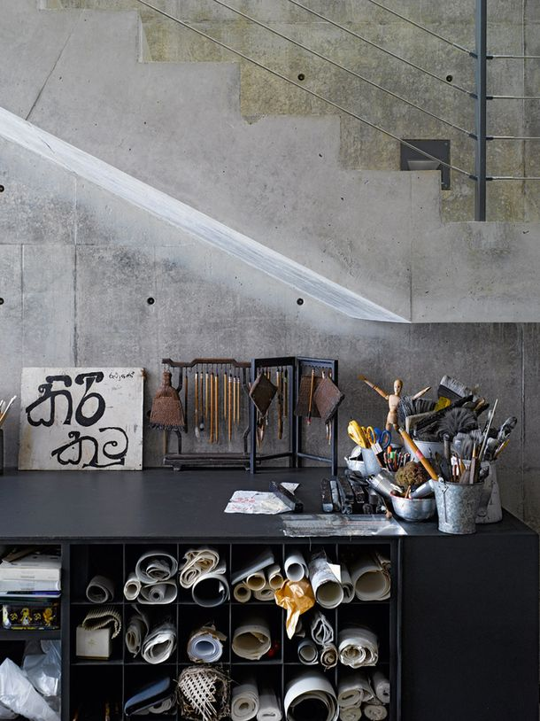 House in Sri Lanka by Tadao Ando's design, Work space | admagazine