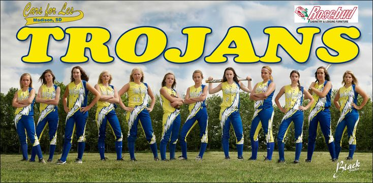 south dakota sports teams | Trojans Softball Banner – Madison South Dakota Sports Photography