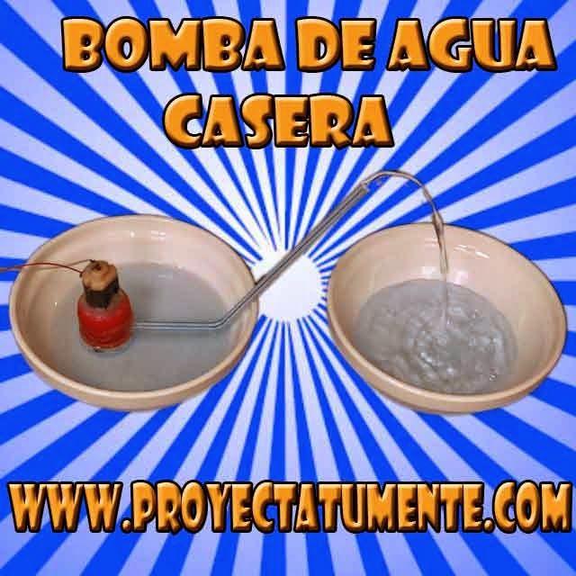Como hacer una mini bomba de agua casera proyectatumente - Motor de fuente de agua ...
