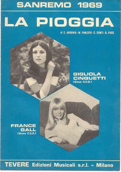 Gigliola Cinquetti + France Gall (spartito Sanremo 1969)